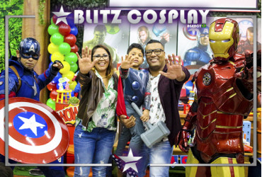 Personagens vivos The Avengers para festas