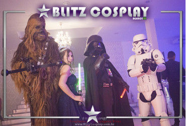 Chewbacca personagem vivo para festa