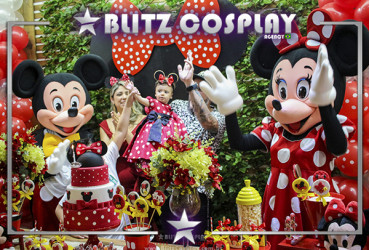 Mickey e Minnie Personagens Vivos Para Festas.