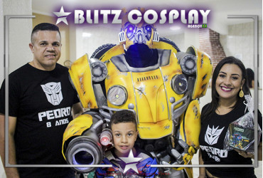 Bumblebee personagem vivo para festas
