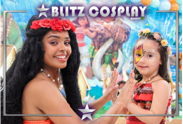 Moana Personagem Vivo Para Festas.