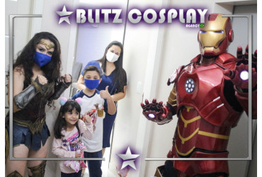 Cosplayers para eventos Personagens vivos