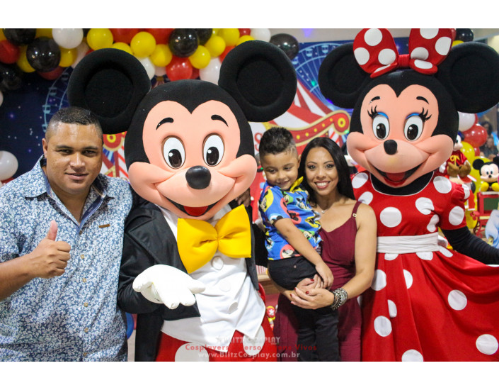 Mickey personagem vivo para festas