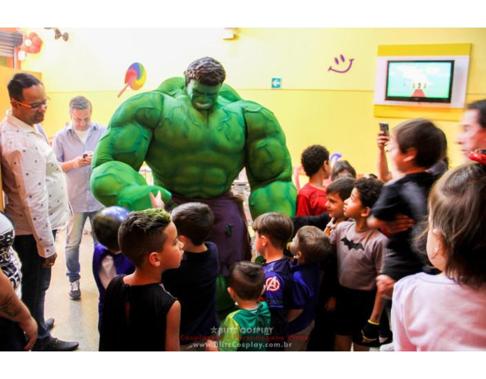 Personagem vivo Hulk para festas e eventos