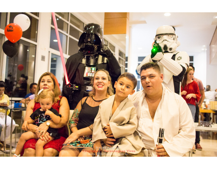 Personagem vivo Darth Vader para festas