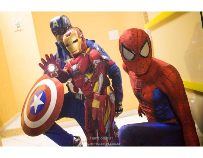 Personagem vivo Homem Aranha para festas