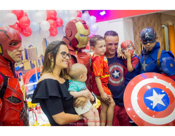 Capitão America Personagem vivo para