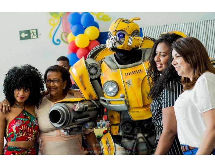 Bumblebee Personagem Vivo Para Festas.