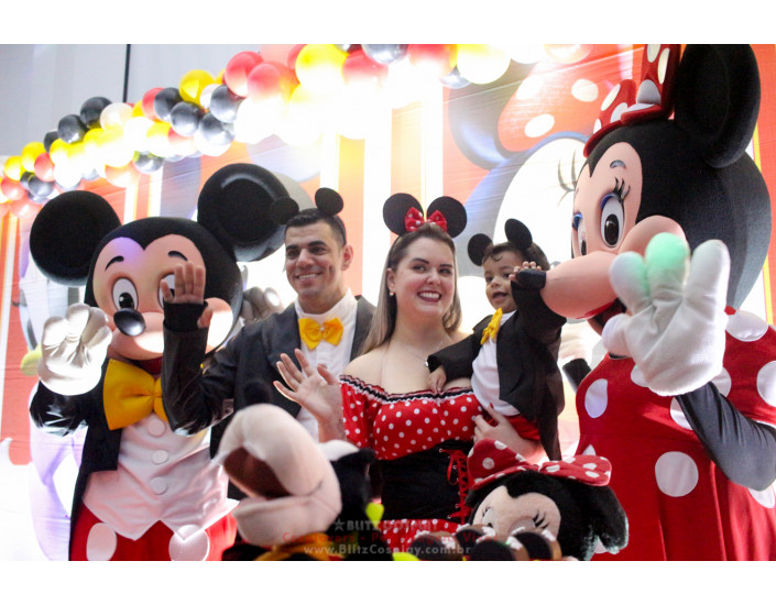 Mickey Personagem Vivo Para Festas.