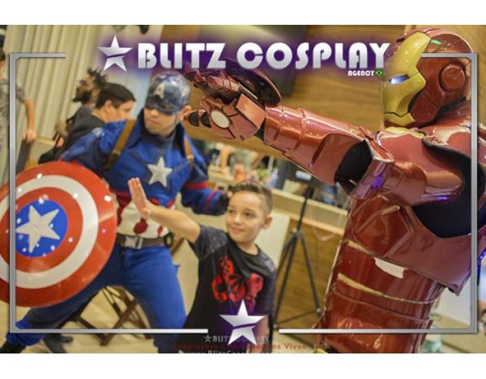 Personagens vivos The Avengers para festas