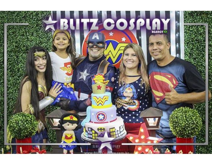 Capitão America Personagem vivo festas