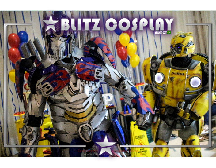 Transformers Personagem Vivo Para Festas.