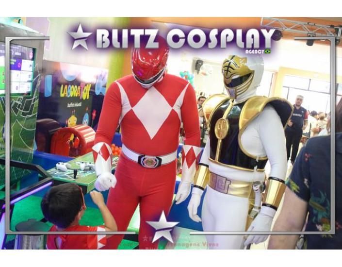 Power Rangers Personagem Vivo Para Festas.