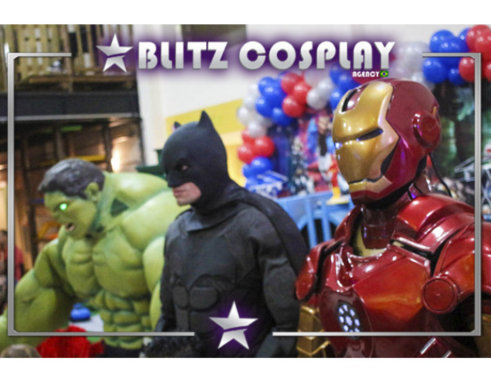 Heróis Personagens Vivos Para Festas