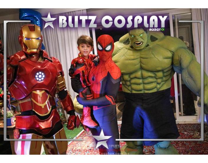 Heróis Personagens Vivos Para Festas e Eventos.