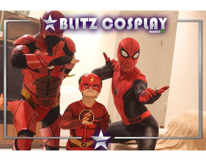 Homem Aranha e Flash Personagem Vivo Para Festas e Eventos.