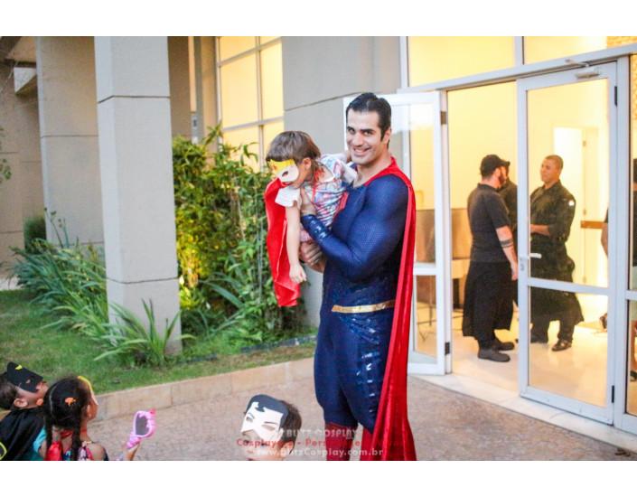 Superman personagem vivo para festas