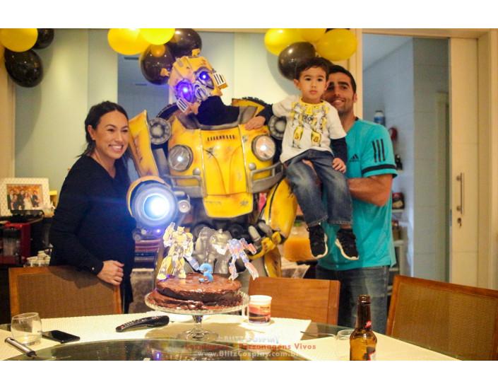 Personagem vivo Bumblebee para festas