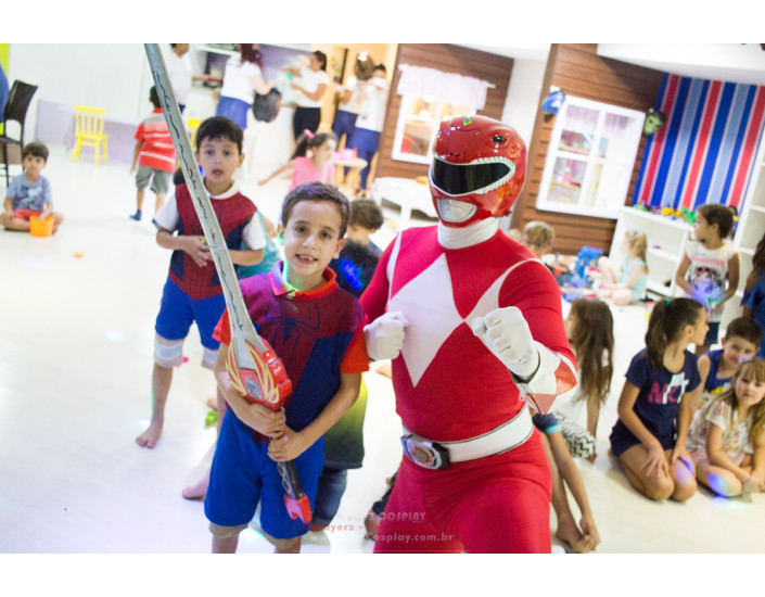 Power Rangers personagens vivos