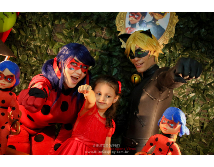 Lady Bug personagens vivos para festas