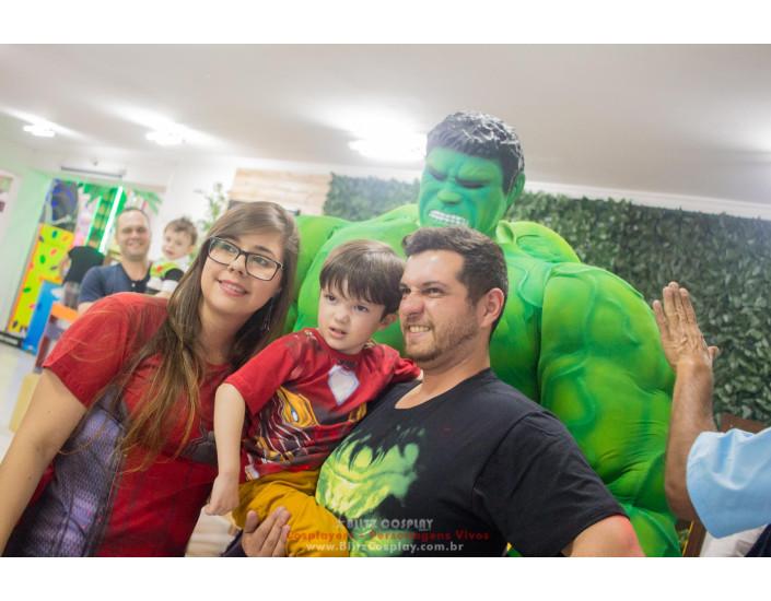 Hulk Personagem vivo para festas e eventos