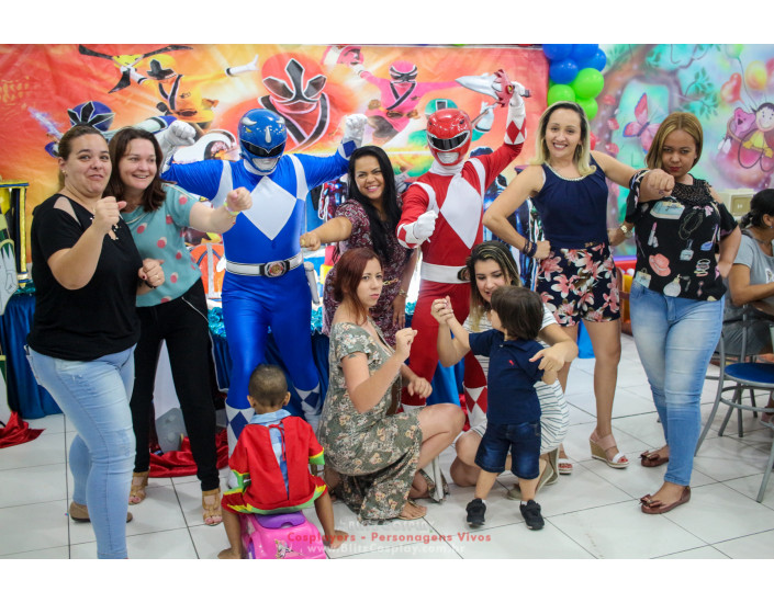 Power Rangers personagens vivos festas