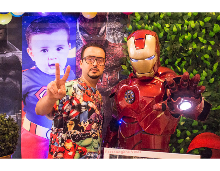 Homem Aranha e Iron Man Personagem Vivo