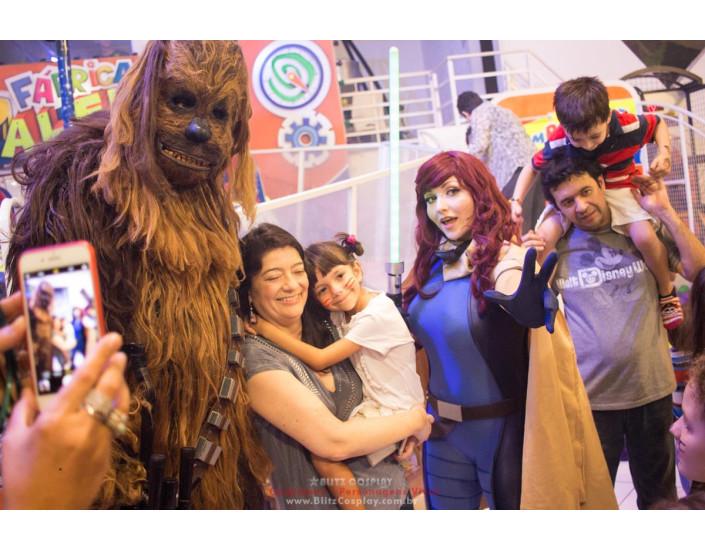 Personagem vivo Chewbacca para festa