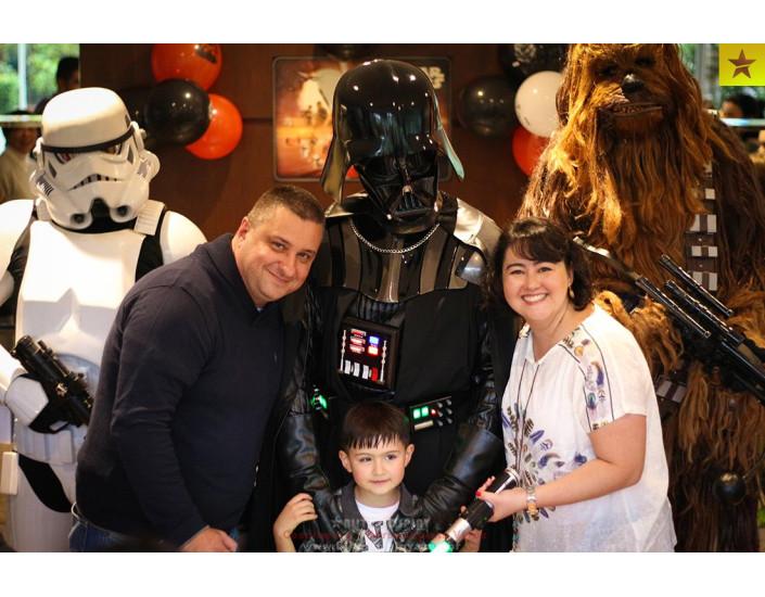 Personagens vivos Star Wars para festas