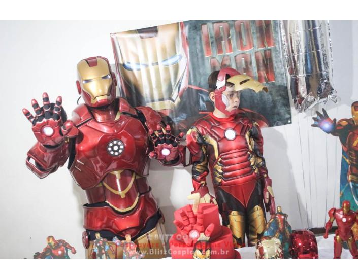 Homem  de Ferro Personagem Vivo Para Festas e Eventos.