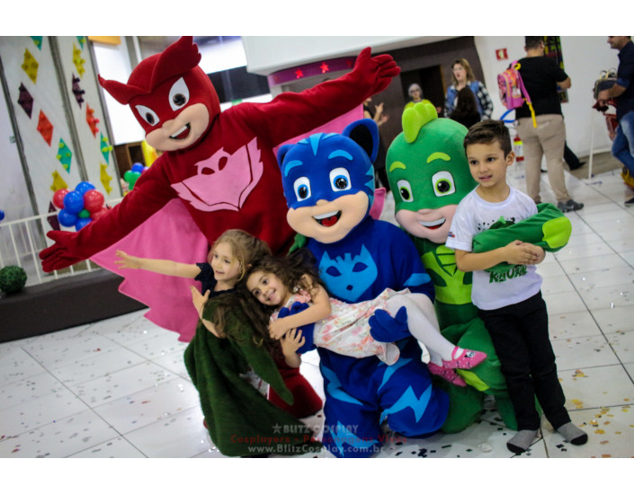 PJMasks Personagens Vivos Para Festas.