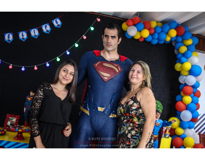 SuperMan Personagem Vivo Para Festas.