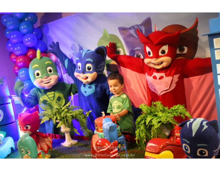 PJ Masks Personagens Vivos Para Festas.