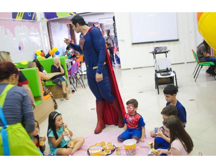 SuperMan Personagem Vivo Para Festas.
