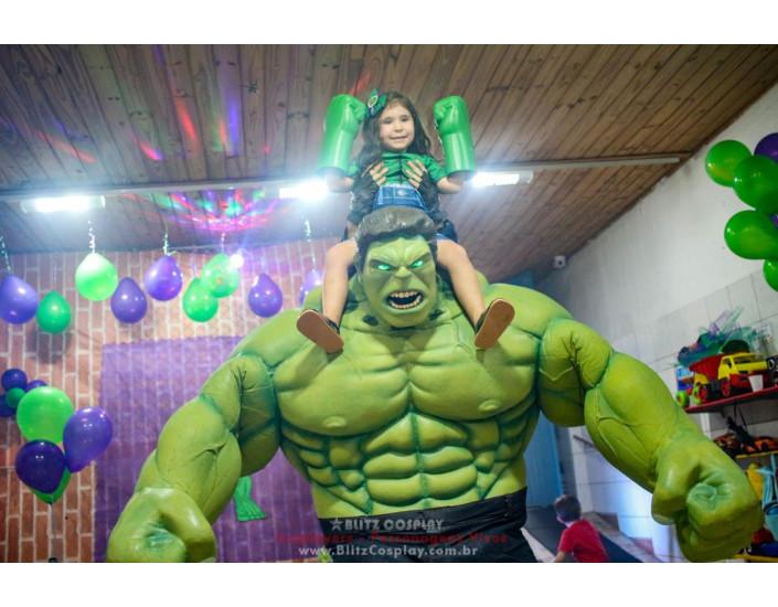 Hulk e Capitão América Personagens Vivos Para Festas.