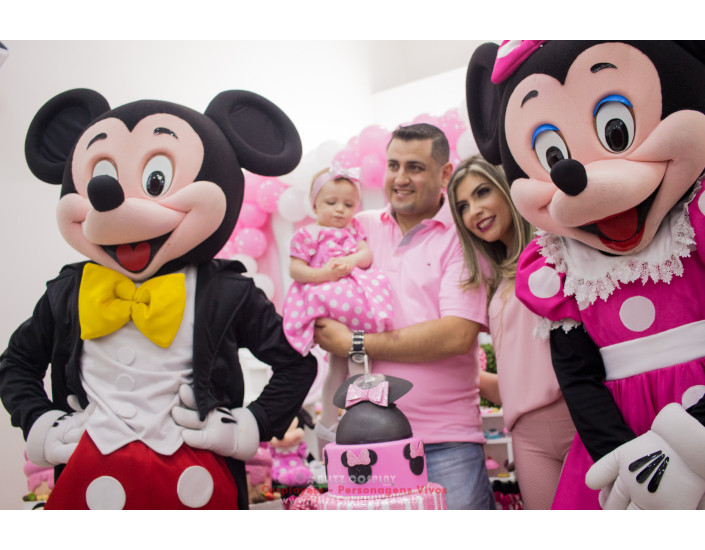 Mickey e Minnie personagens vivos festas