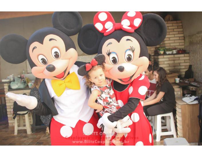 Mickey e Minnie Personagens Vivos Para Festas e Eventos.