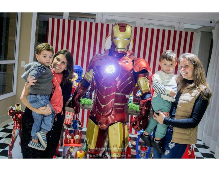 Personagem vivo Homem de Ferro para festas