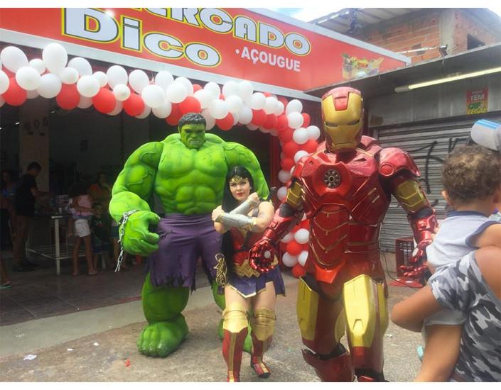 Hulk Personagem vivo para eventos