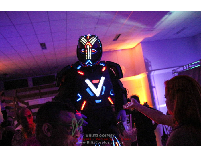 Robô de Led Personagem Vivo