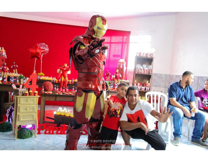 Homem de ferro personagem vivo festas