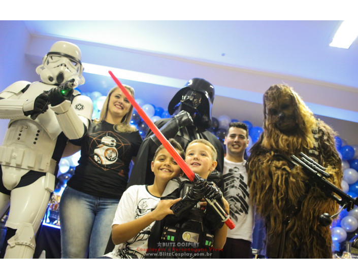 Personagens vivos Star Wars para festas