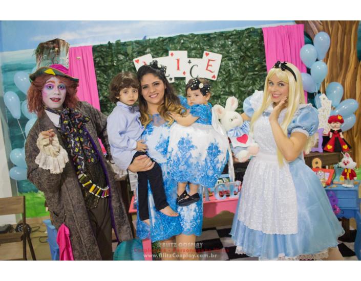 Alice personagens vivos para festas e aniversários