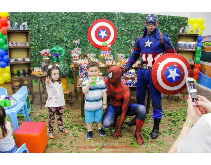 Homem Aranha Personagem vivo para festas