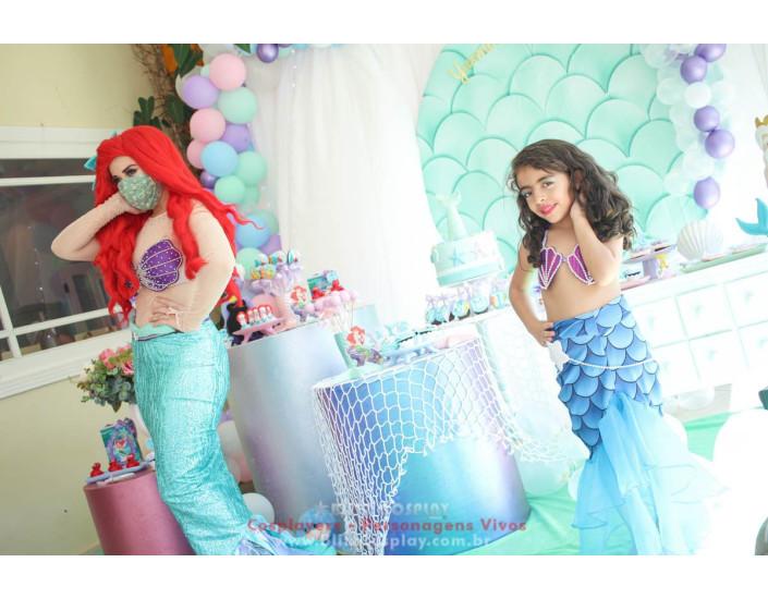 Ariel  Personagem Vivo Para Festa e Eventos.