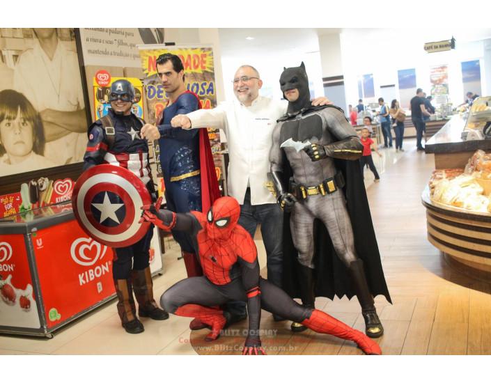 Heróis Personagens Vivos Para Eventos.