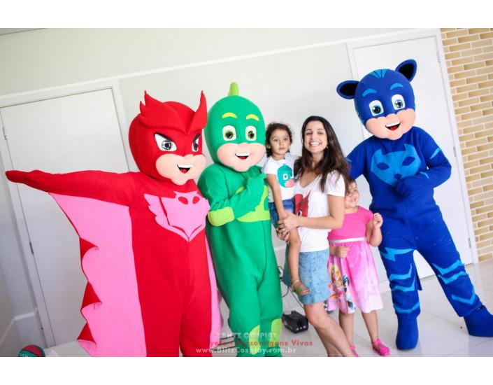 PJmask personagens vivos para eventos e festas