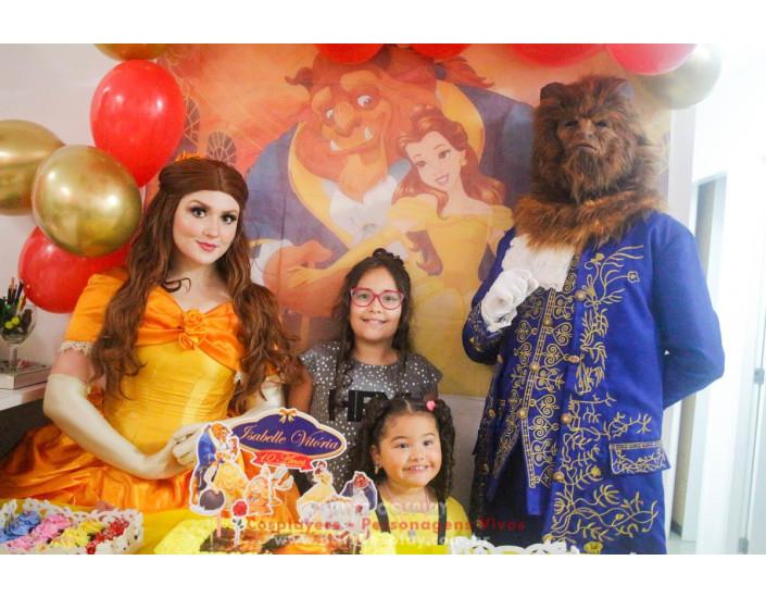 A Bela e a Fera Personagem Vivo Para Festa e Eventos.