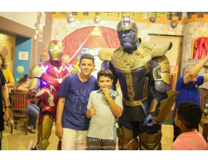 Homem de Ferro e Thanos Personagens Vivos Para Festas.