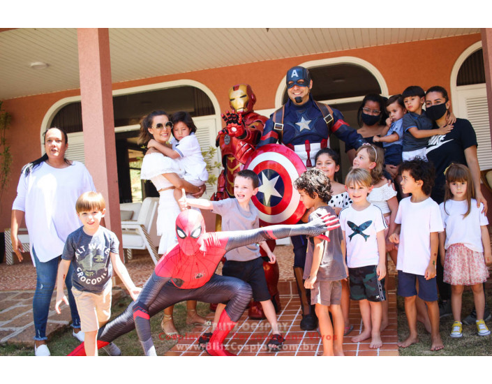 Heróis Personagem Vivo Para Festas e Eventos.